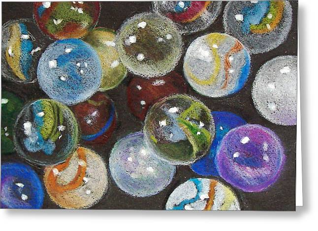 Many Marbles Greeting Card by Joyce Geleynse