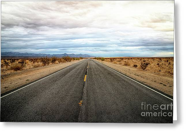 Many Miles Through Mojave Desert Greeting Card