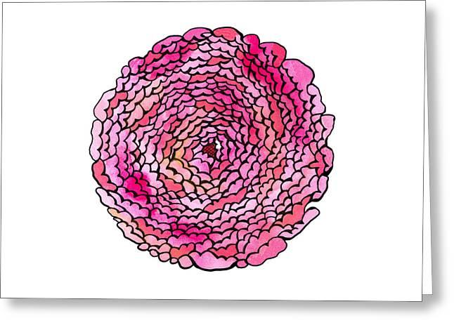 Many Petaled Flower Greeting Card