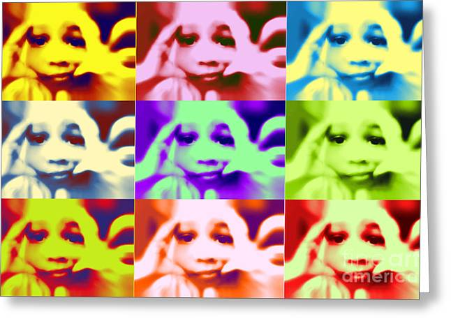 manyfacesofHava Greeting Card by Anthony Lewis