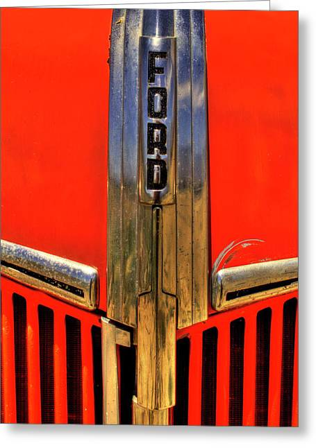 Manzanar Fire Truck Hood And Grill Detail Greeting Card