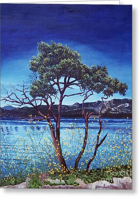 Manzanita At Lake Hemet Greeting Card