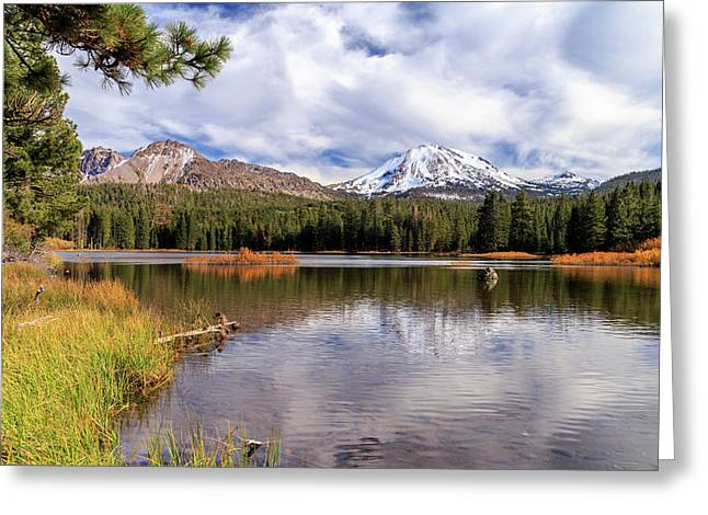 Greeting Card featuring the photograph Manzanita Lake - Mount Lassen by James Eddy