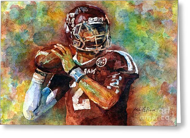 Manziel Greeting Card by Hailey E Herrera