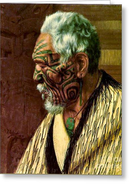 Maori Elder 1914 Greeting Card