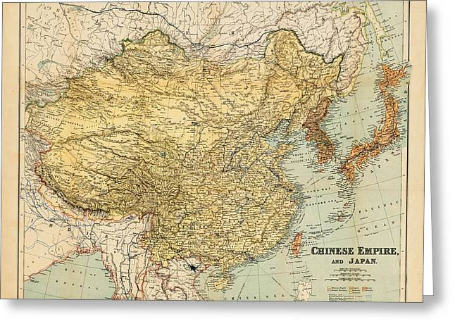 Chinese Map Of America.Map Of China Greeting Cards Page 4 Of 5 Fine Art America