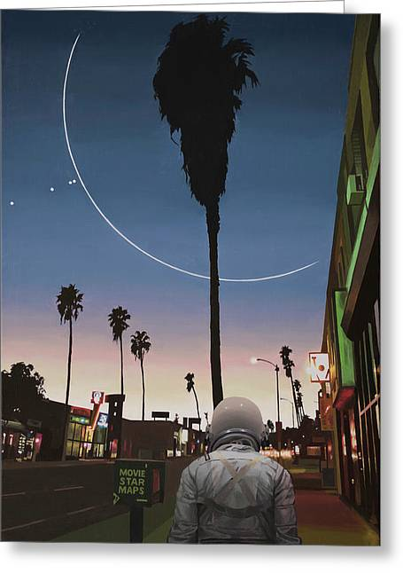 Map Of The Stars Greeting Card by Scott Listfield