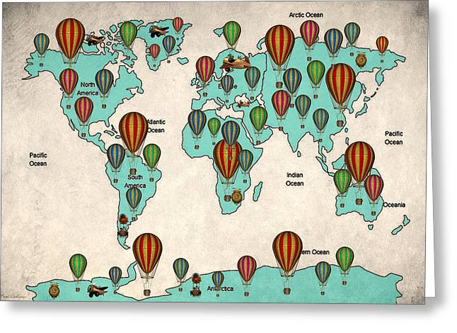 Map Of The World 7 Greeting Card