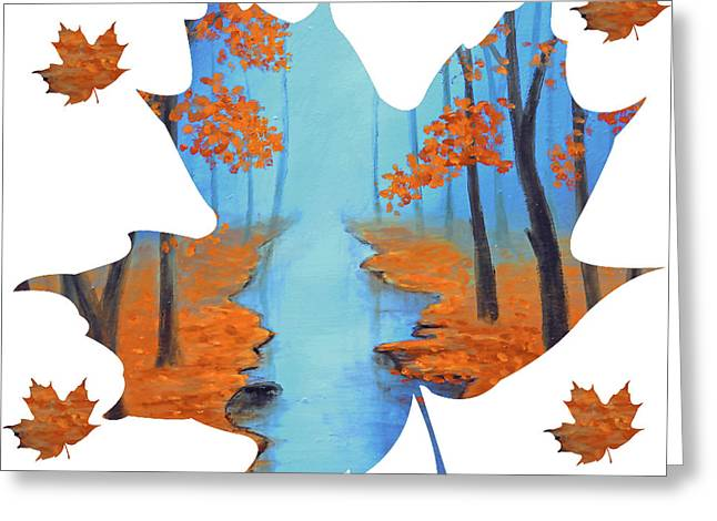 Maple Leaf Cool Warmth Of Autumn Greeting Card by Ken Figurski