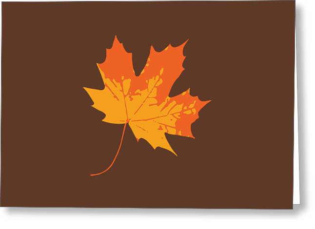 Greeting Card featuring the digital art Maple Leaf by Jennifer Hotai