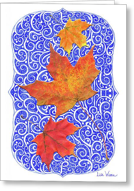 Maple Leaves Greeting Card by Lise Winne
