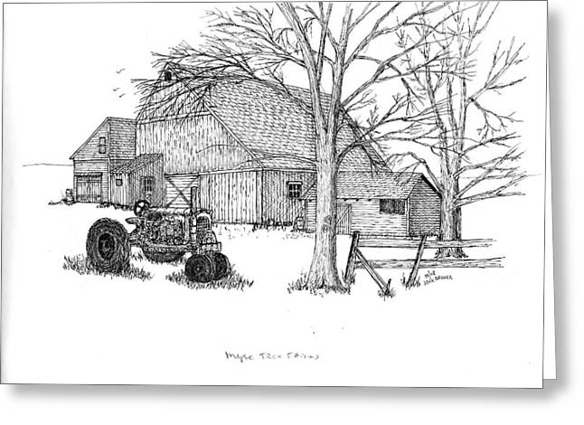 Maple Tree Farm Greeting Card by Jack G  Brauer