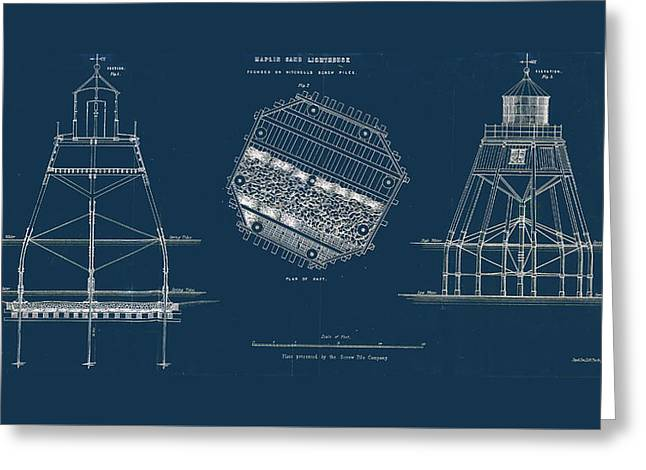 Maplin Sands Lighthouse Greeting Card