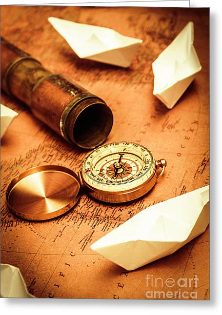 Maps And Bearings Greeting Card by Jorgo Photography - Wall Art Gallery