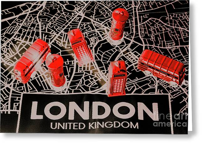 Maps From London Town Greeting Card