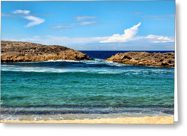 Frank Feliciano Greeting Cards - Mar Chiquita North Coast Puerto Rico Greeting Card by Frank Feliciano