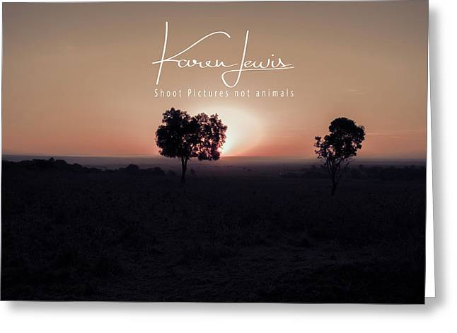 Greeting Card featuring the photograph Mara Morning by Karen Lewis