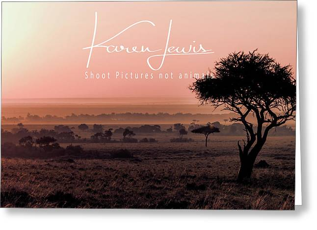Greeting Card featuring the photograph Mara Pink Dawn  by Karen Lewis