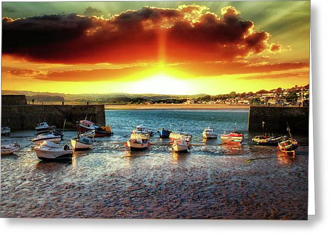 Marazion Sunsets Greeting Card