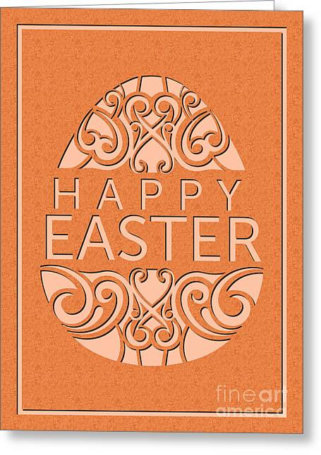 Greeting Card featuring the digital art Marble Deco Easter Egg by JH Designs