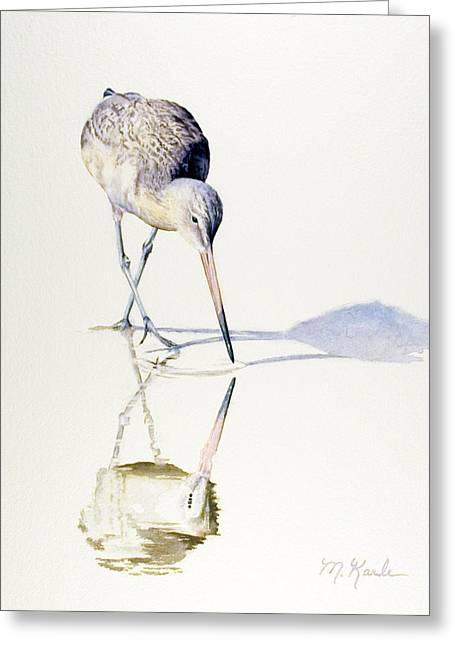 Marbled Godwit Times Three Greeting Card