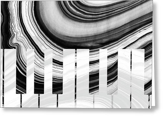 Marbled Music Art - Piano Keys - Sharon Cummings Greeting Card by Sharon Cummings