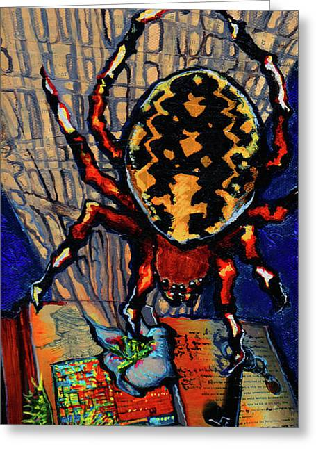 Marbled Orbweaver Greeting Card by Emily McLaughlin