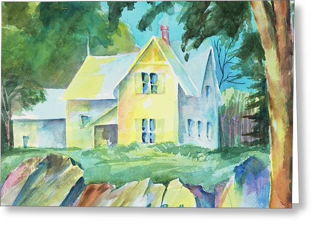 Marblehead Cottage Greeting Card