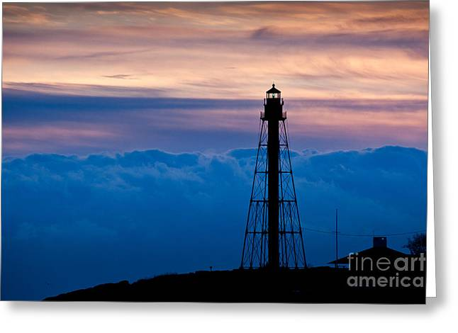 Marblehead Light Greeting Card by Susan Cole Kelly
