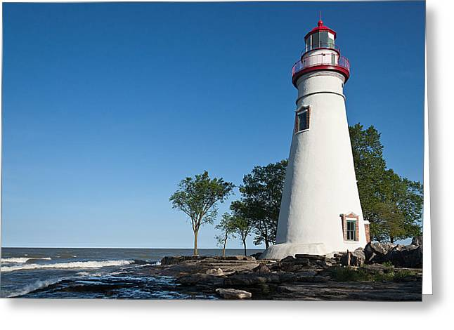 Marblehead Lighthouse Greeting Card by Dale Kincaid