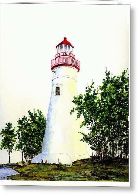 Marblehead Lighthouse Greeting Card by Michael Vigliotti