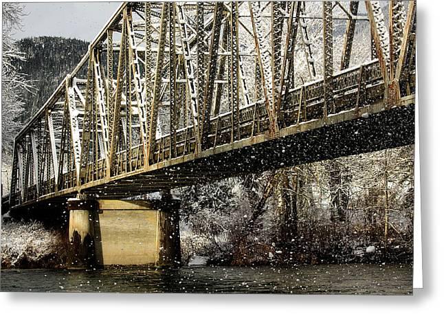 Marblemount Wa Bridge Greeting Card