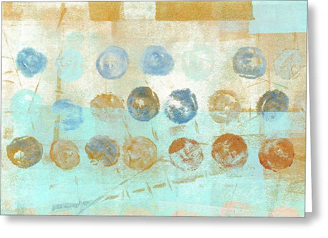Marbles Found Number 1 Greeting Card by Carol Leigh