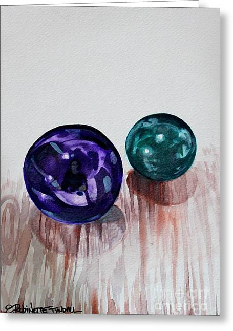 Greeting Card featuring the painting Marbles Of My Reflection by Elizabeth Robinette Tyndall