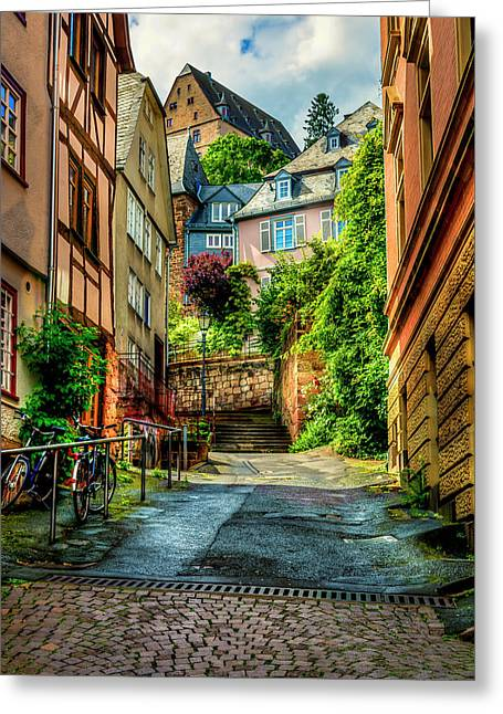 Greeting Card featuring the photograph Marburg Alley by David Morefield