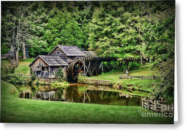 Marby Mill Landscape Greeting Card
