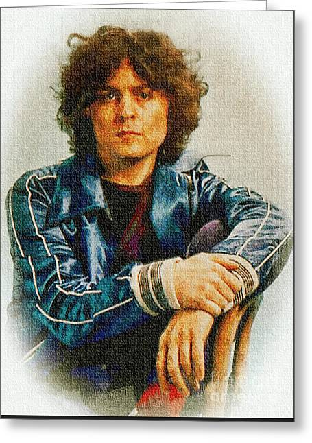 Marc Bolan - Glam Rock Star Greeting Card