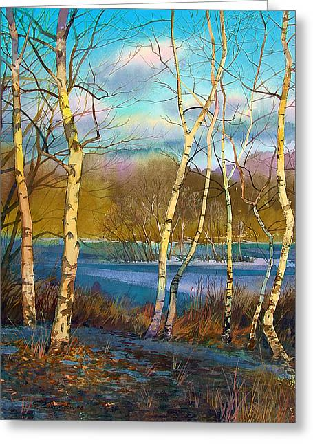 March. Birches Greeting Card