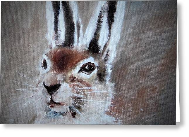 March Hare In Colour Greeting Card