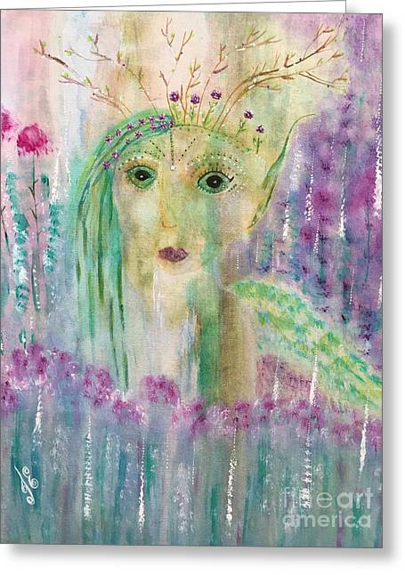 March Greeting Card by Julie Engelhardt