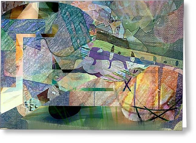 March On Abstract Greeting Card by Dawn Pearce