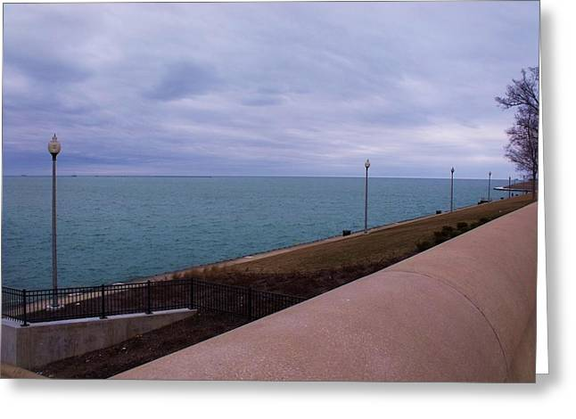 Anna Villarreal Garbis Greeting Cards - March on Lake Michigan Greeting Card by Anna Villarreal Garbis