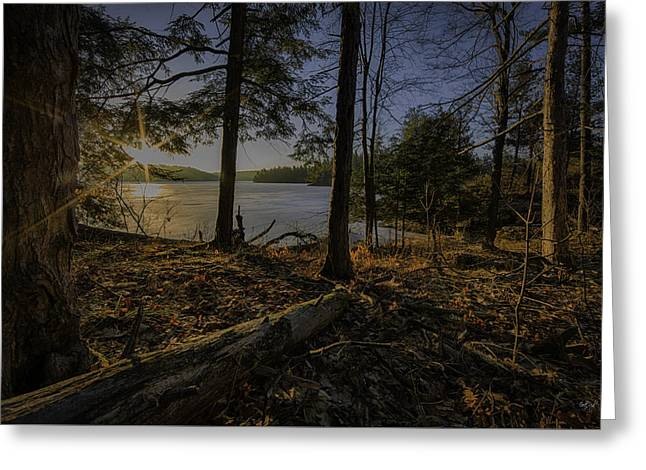 March Sunrise At Millsite Lake Greeting Card