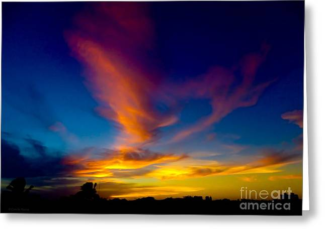 Sunset March 31, 2018 Greeting Card
