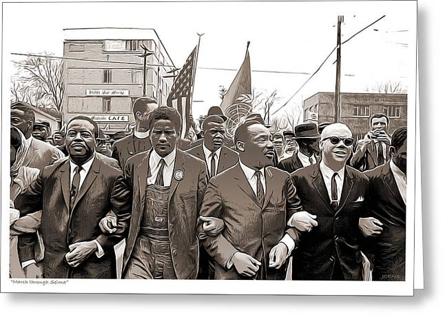 March Through Selma Greeting Card