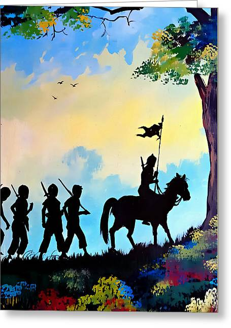 Marching At Daybreak Greeting Card