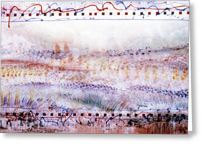 Marching In The Meadow Greeting Card by Tom Hefko