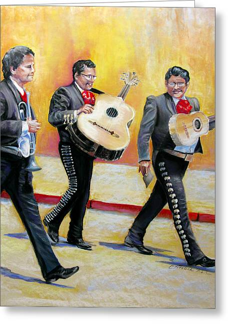 Marching Mariachi Greeting Card by Carole Haslock