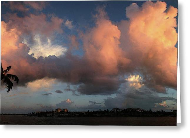 Marco Island Summer Evening Greeting Card by Carol Kinkead