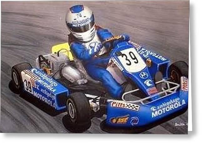 Marco Karting Greeting Card
